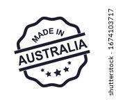 made in australia rubber stamp  ... | Shutterstock .eps vector #1674103717