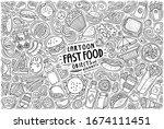 vector hand drawn doodle... | Shutterstock .eps vector #1674111451