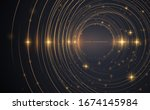 abstract gold circle lines...   Shutterstock .eps vector #1674145984