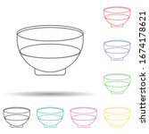 olive oil  bowl multi color set ...