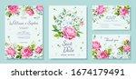 wedding invitation card... | Shutterstock .eps vector #1674179491