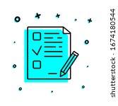 examination sheet icon. simple...