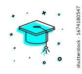 graduate's cap icon. simple...