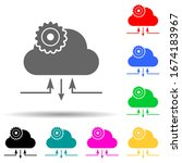 cloud management multi color...