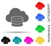 cloud database multi color...