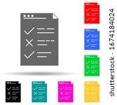 testing checklist multi color...