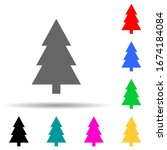 tree multi color style icon....