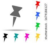 pin multi color style icon....