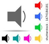 sound multi color style icon....