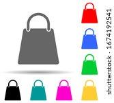 a bag multi color style icon....