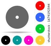 cd disc multi color style icon. ...