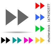 rewind mark multi color style...