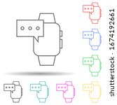 smart watch message multi color ...
