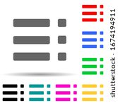 menu multi color style icon....