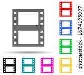 film multi color style icon....