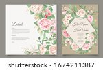 wedding card template with... | Shutterstock .eps vector #1674211387