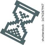 pixel icon. pixel symbol.... | Shutterstock .eps vector #1674287947