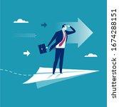 project management. businessman ...   Shutterstock .eps vector #1674288151