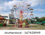 temporary ferris wheel in... | Shutterstock . vector #167428949