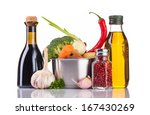 vegetables and stainless pot... | Shutterstock . vector #167430269