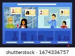 facial identification... | Shutterstock .eps vector #1674336757