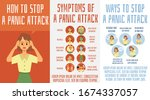 panic attack symptoms and ways... | Shutterstock .eps vector #1674337057