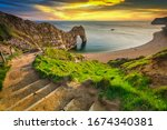 Durdle Door At The Beach On The ...