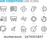 set of air condition cons  air... | Shutterstock .eps vector #1674351847