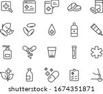 set of medicine icons  pharmacy ... | Shutterstock .eps vector #1674351871