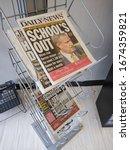 Small photo of Rutherford, New Jersey / USA - March 16 2020: Newspaper headlines regarding the coronavirus outbreak.
