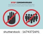stop coronavirus with red... | Shutterstock .eps vector #1674372691