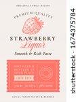 family recipe strawberry liquor ... | Shutterstock .eps vector #1674375784