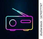 radio in nolan style icon....