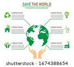 green ecology infographic... | Shutterstock .eps vector #1674388654