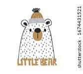 cute bear face drawing as... | Shutterstock .eps vector #1674431521