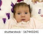 young baby portrait  studio... | Shutterstock . vector #167443241