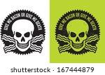 vector illustration of skull... | Shutterstock .eps vector #167444879