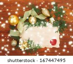 frame with vintage paper and... | Shutterstock . vector #167447495