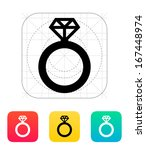 diamond ring icon. vector...