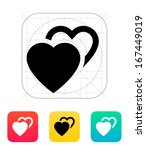 two hearts icon. vector...