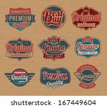 vintage retro label badges  ... | Shutterstock .eps vector #167449604