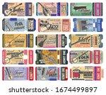 music concert ticket with... | Shutterstock .eps vector #1674499897