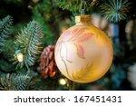 a close up of a christmas ball... | Shutterstock . vector #167451431