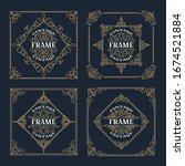 set of vintage  ornament frame... | Shutterstock .eps vector #1674521884