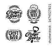 craft beer labels set. beer... | Shutterstock .eps vector #1674527821