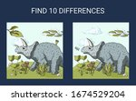find 10 differences.... | Shutterstock .eps vector #1674529204