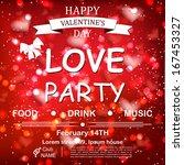 valentine s day party design... | Shutterstock .eps vector #167453327
