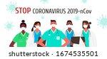 coronavirus 2019 ncov. set of...   Shutterstock .eps vector #1674535501