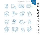 coronavirus protection related... | Shutterstock .eps vector #1674551251