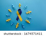 World Down Syndrome Day On Blue ...